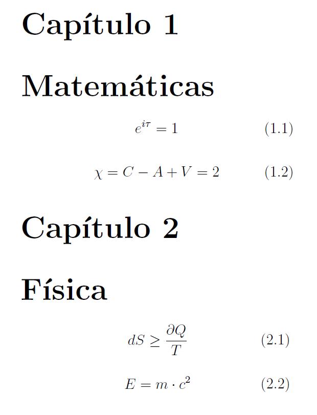 Aprendiendo LaTeX: Cómo editar la numeración de las ecuaciones