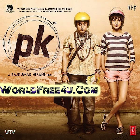 Poster Of Hindi Movie P.K. (2014) Free Download Full New Hindi Movie Watch Online At worldfree4u.com