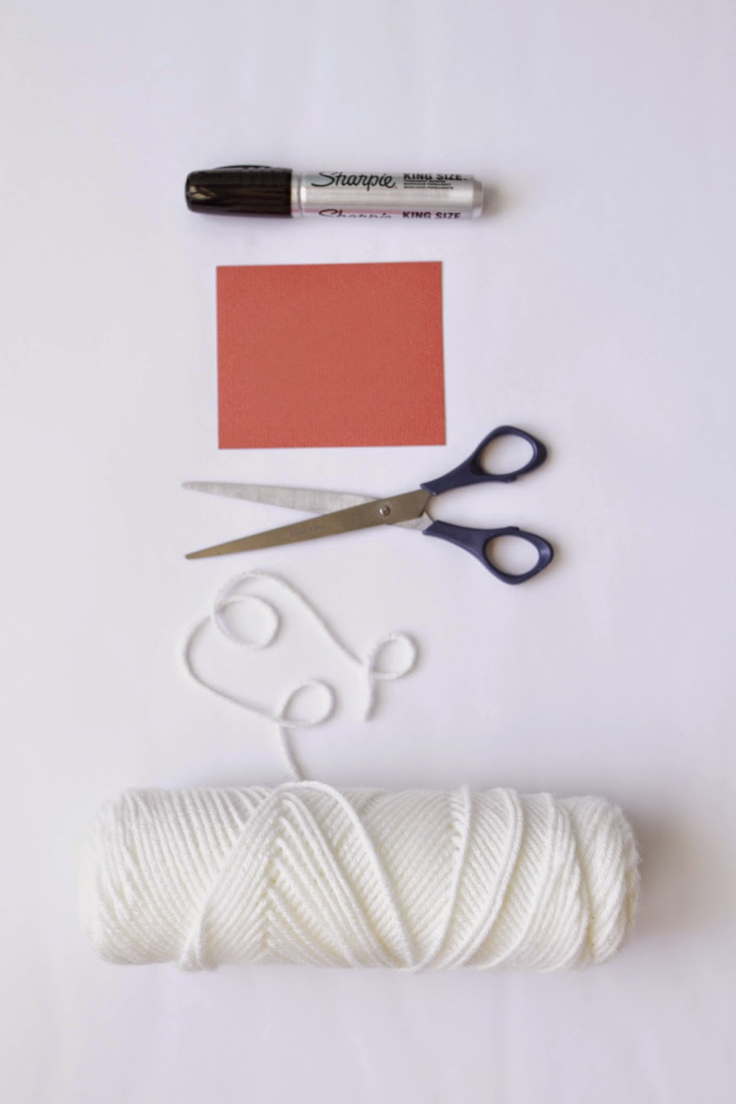 Here are some basic supplies to make Ghost Tassels.  |  My Name Is Snickerdoodle