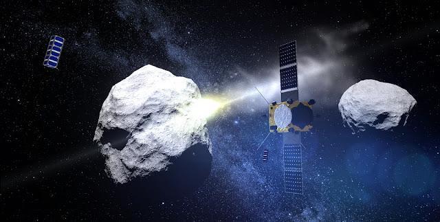 AIM watches impact. Credit: ESA - ScienceOffice.org