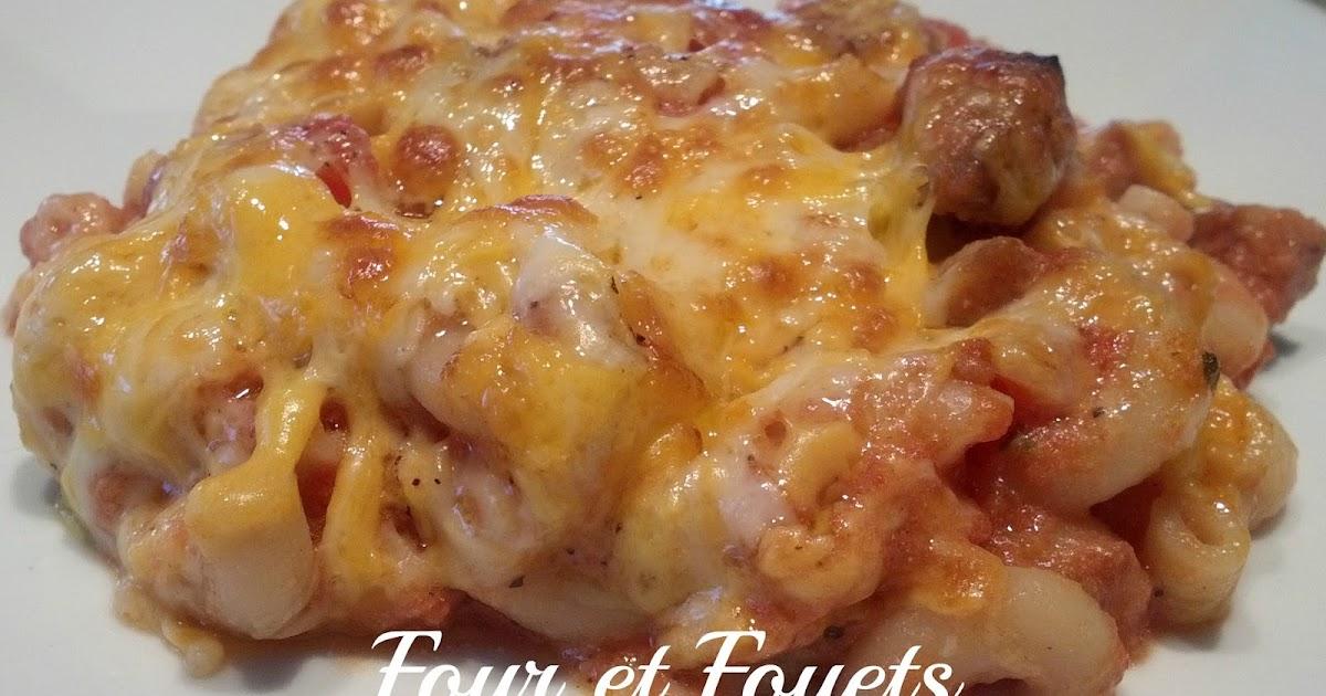Four et fouets pour sara macaroni gratin aux saucisses - Cuisiner des saucisses ...