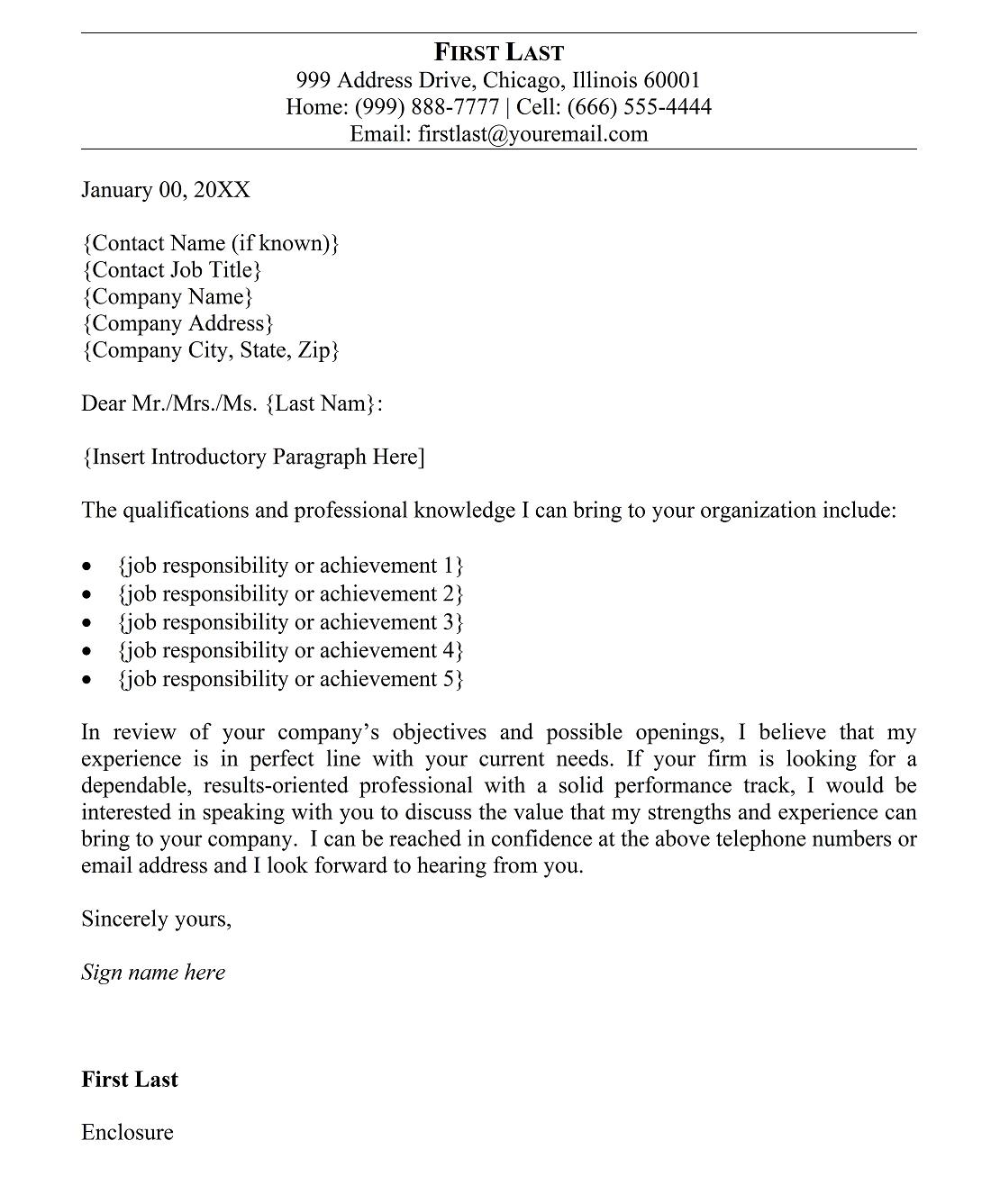 5 free cover letter templates for resume and 10 best resume ...
