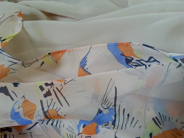 shawl chiffon 2 layer printed kuning pucat
