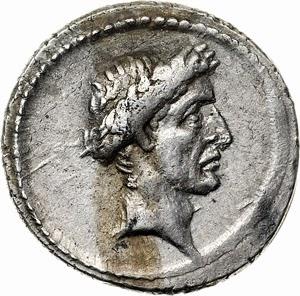 image of a Julius Caesar Denarius, exceptional style