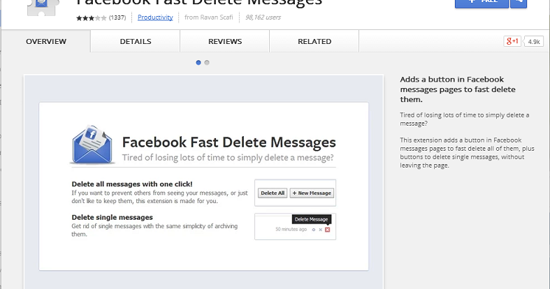 how to delete facebook conversations all at one