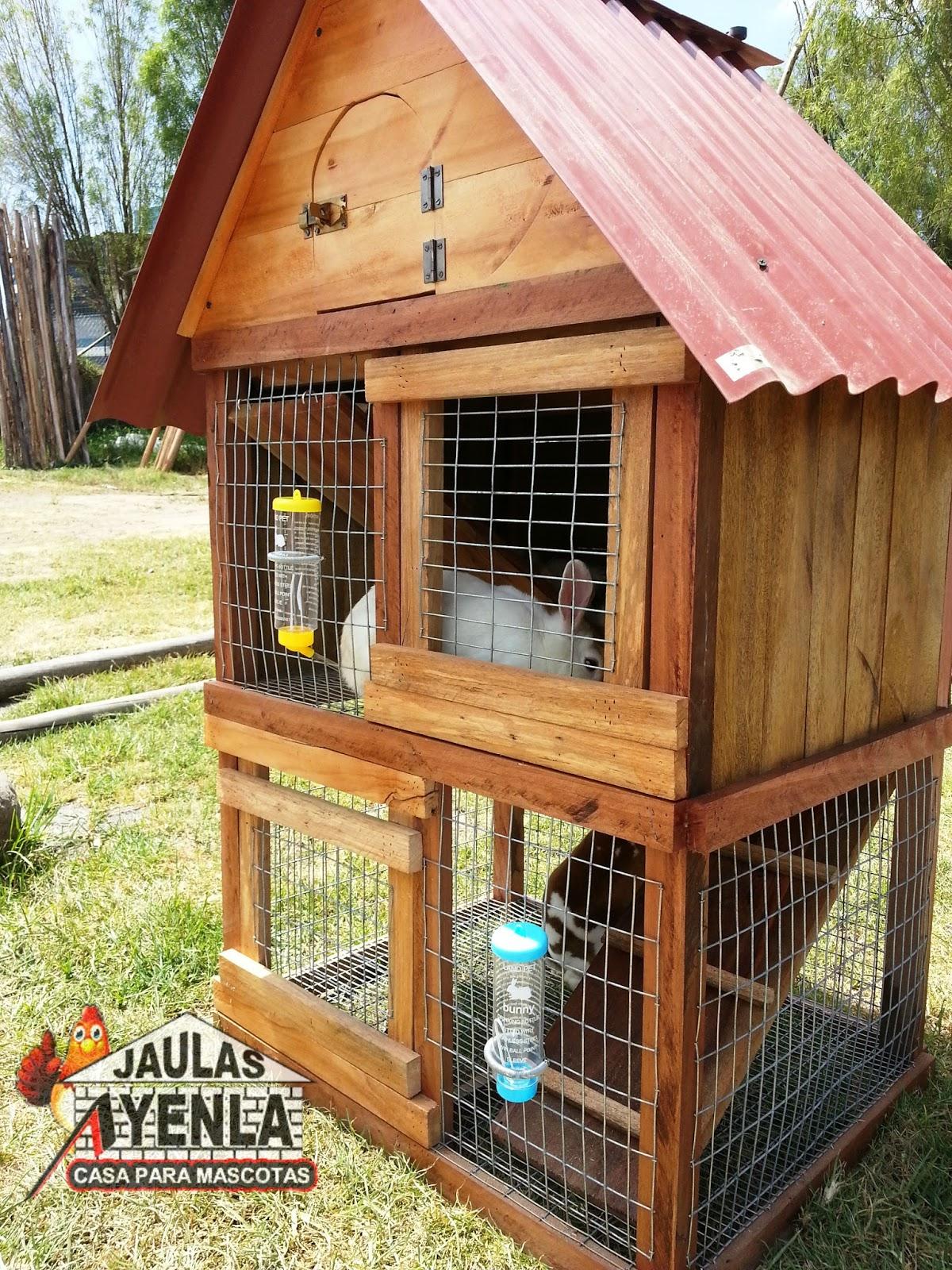 Jaulas ayenla casas de mascotas jaula de conejo de 3 pisos - Casa conejo ...