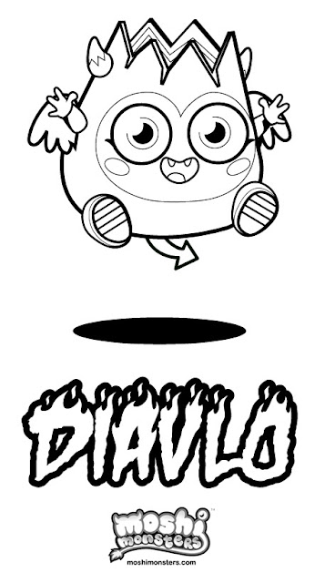 Moshi Monsters Coloring Pages - Diavlo