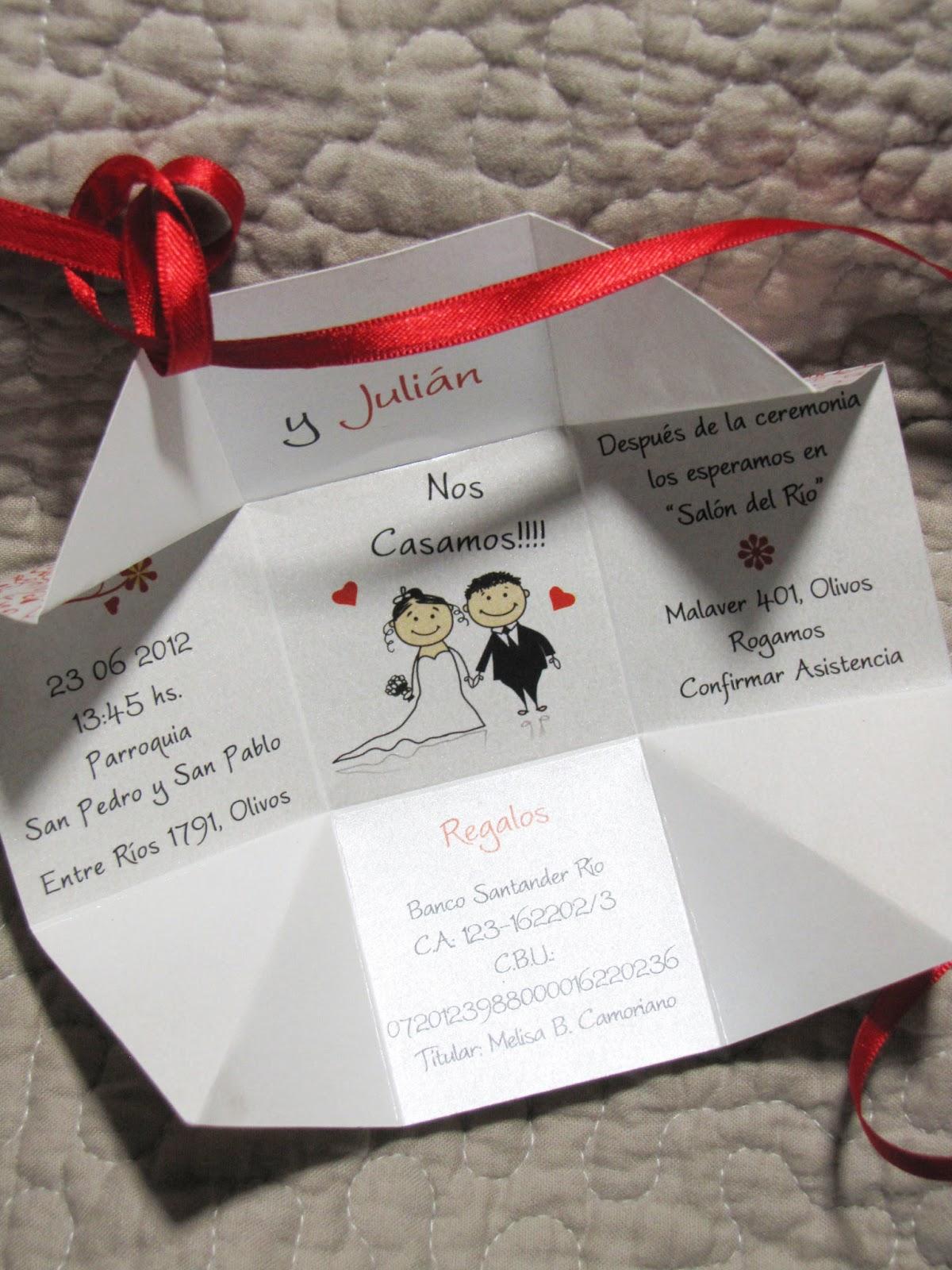 Invitaciones y tarjetas de casamiento llegaron las nuevas - Tarjetas de invitacion de boda originales ...