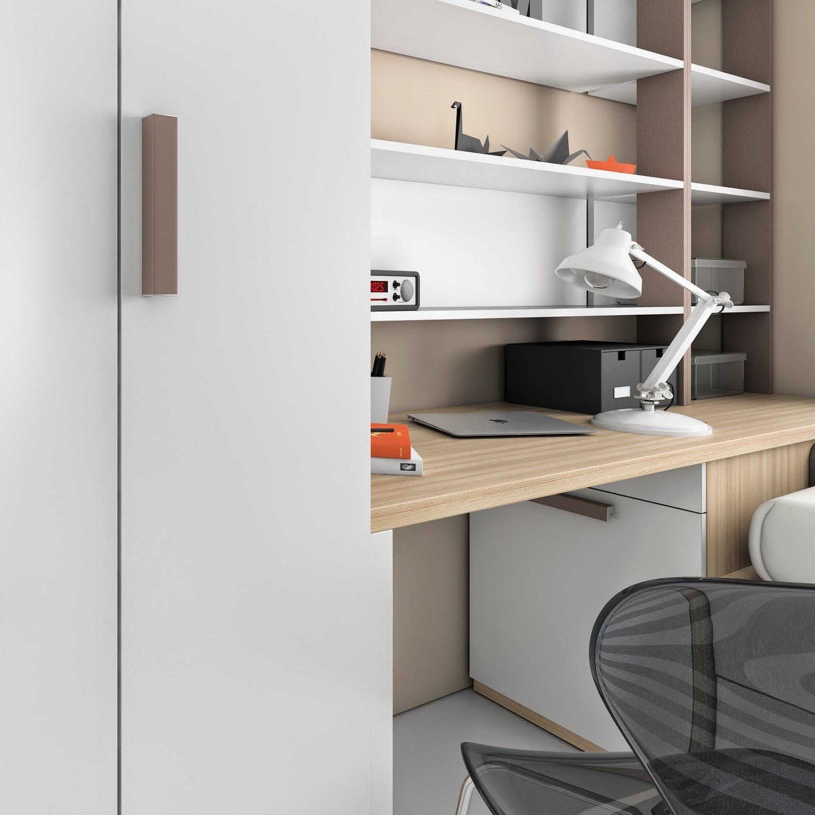 Student desk bedroom furniture ros for Habitaciones juveniles modernas