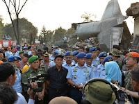 Gubsu Pantau Langsung Penanganan Kecelakaan Pesawat Hercules