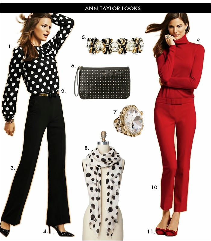 polka dot top, leather belt, crepe pants, red look, what to wear work, what to wear holiday party, christmas gift ideas