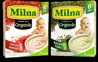 Milna Bubur Bayi Organik, MPASI Terbaik untuk Si Kecil.