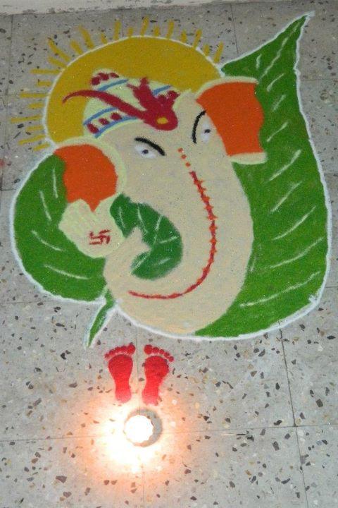 Ganpati Rangoli | newhairstylesformen2014.com