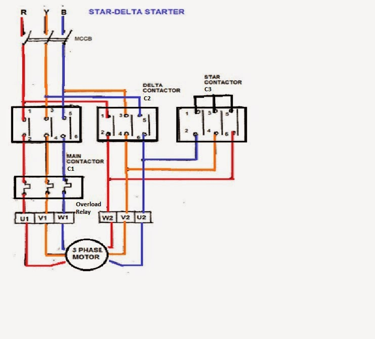 Star Delta Power circuit; Star Delta Starter  sc 1 st  Electrical Standards - blogger : control wiring of star delta starter - yogabreezes.com