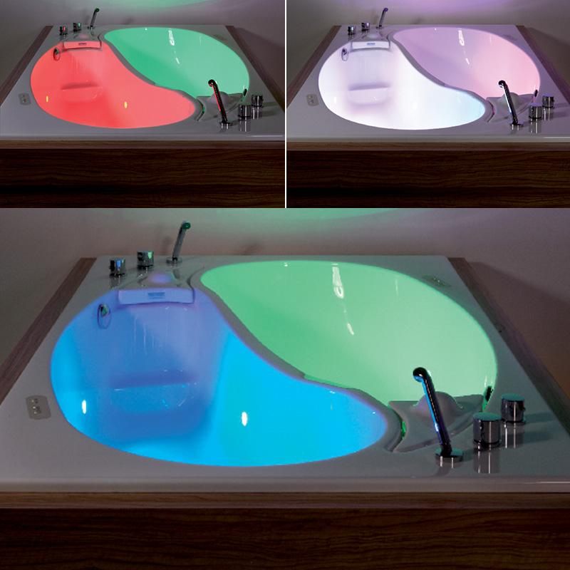 Colorful Bathtub Lights Illustration - Bathtub Ideas - dilata.info