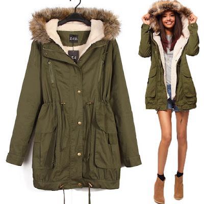 Ali Express Faux Fur Hooded Overcoat