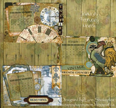 2016 Provence Desk Calendar by Lynn Shokoples for BoBunny