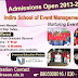 Admissions Open for 2013-14 Batch in Event Management