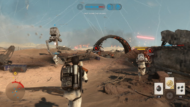 Star Wars Battlefront Battle of Jakku Graveyard of Giants AT-ST