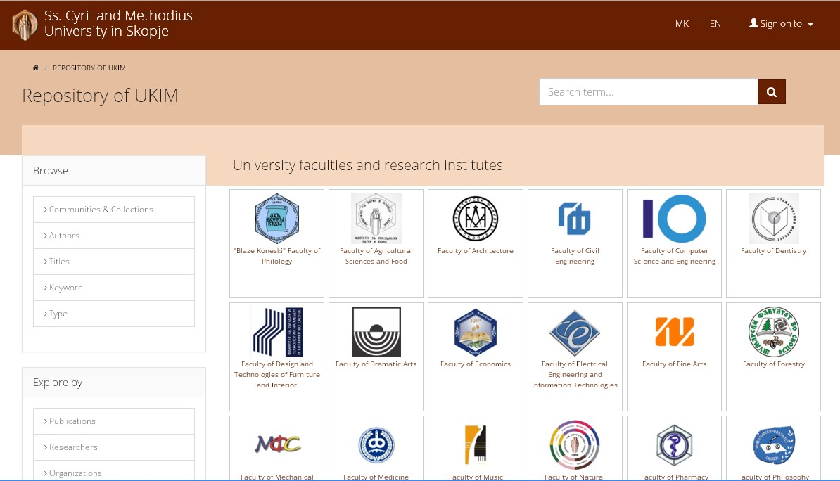 UKIM Repository