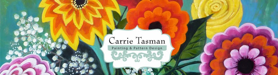 Carrie Tasman * PAiNTINGS - PATTERN DESIGN * Yo-yo Blogger