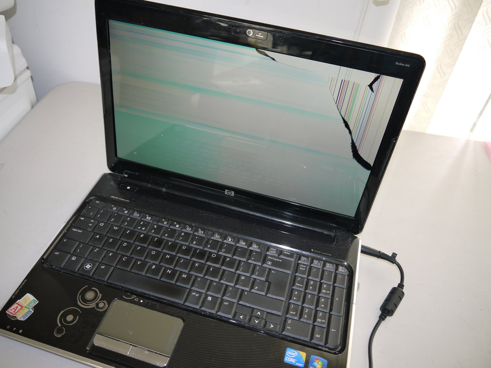 Broken hp Laptop Screen hp Dv6 Laptop Broken Screen