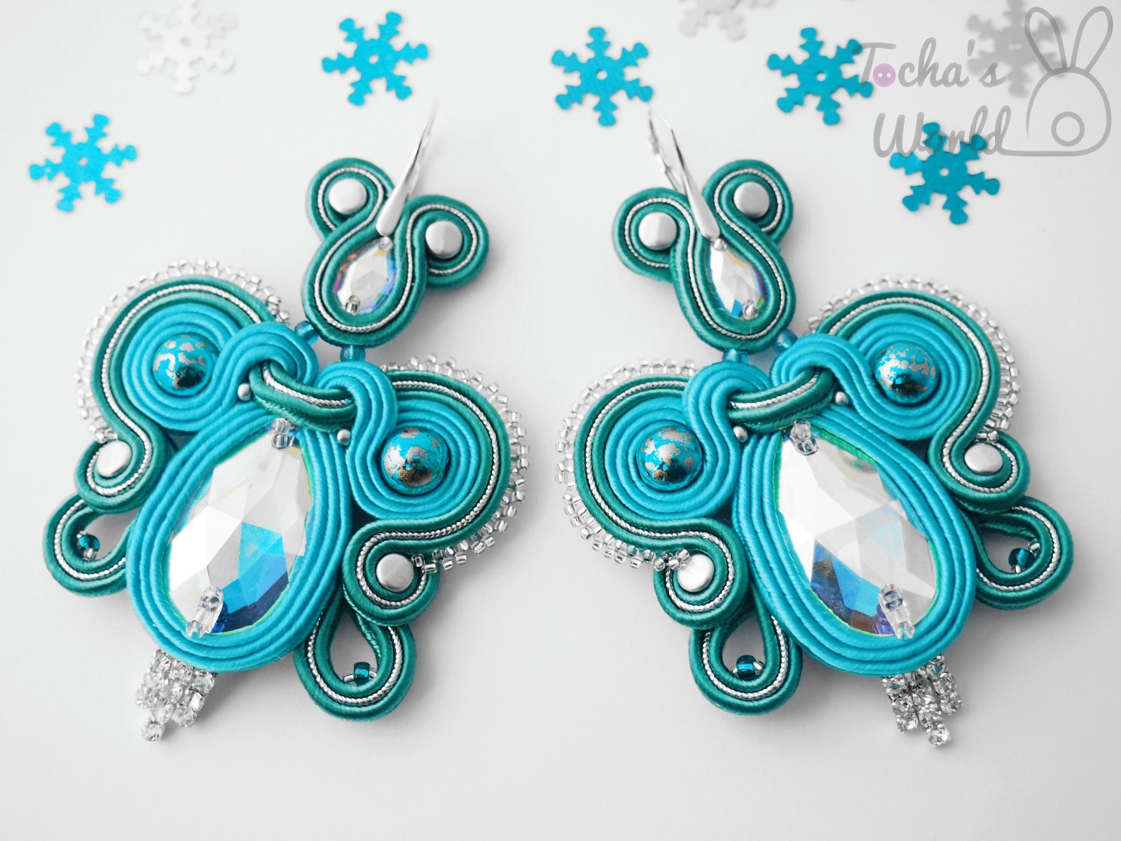 3230, AB, aurora borealis, beaded, butterfly, cupchain, Czech beads, earrings, jewellery, Preciosa Ornela, rhinestone, soutache, sterling silver, sutasz, Swarovski, Vintra Papilio, winter, Winter Wonderland, homesick, Tocha's World