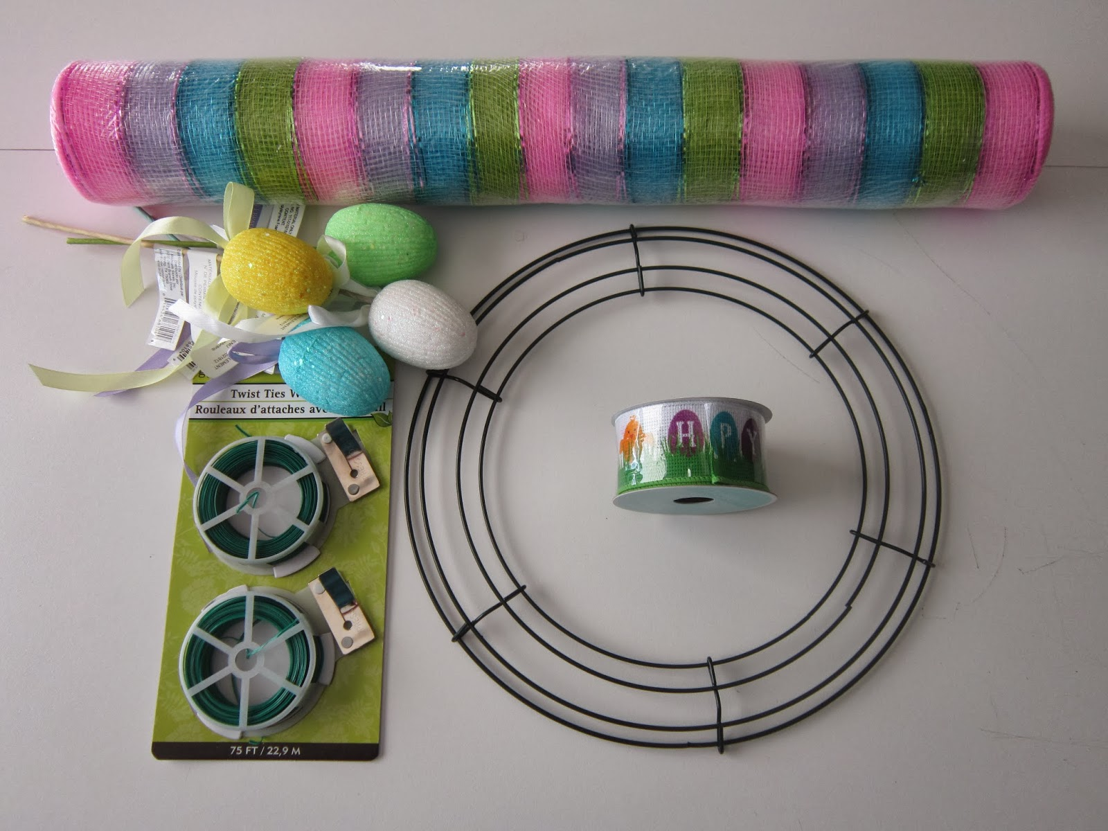 Spontaneously Creative: Mesh Easter Wreath