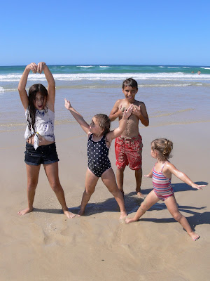 Family fun, Burleigh beach