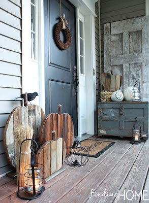 unique wood fall porch decor