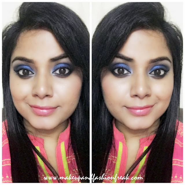 Blue Smokey Eyes with NUde Lips