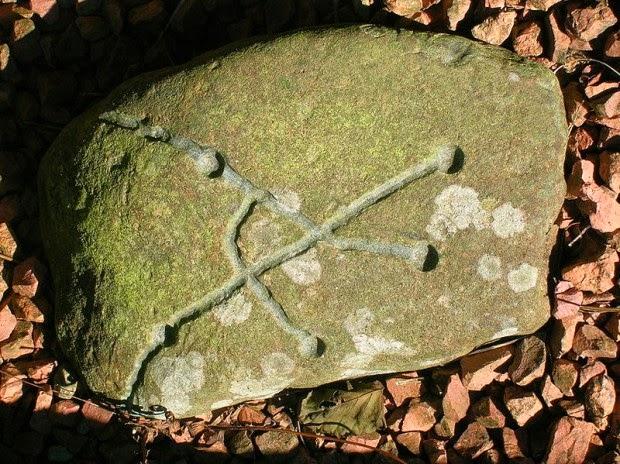 simboli sulla roccia fatti dagli alieni