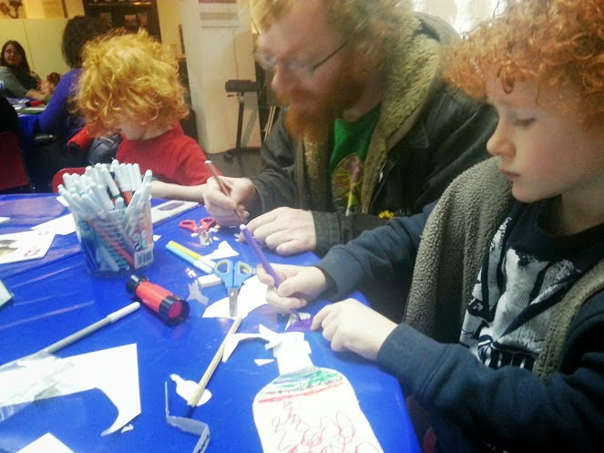 Children's craft activities at Imperial War Museum North in Manchester