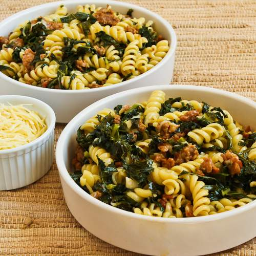 ... italian sausage pasta with hot italian sausage kale garlic and red