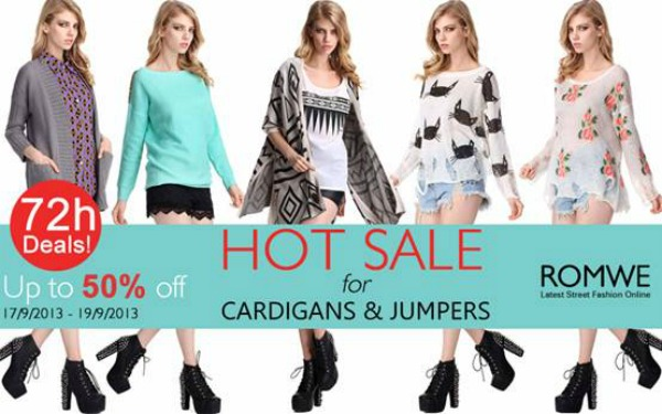 Romwe 72 hr Fash Sale Cardigans & Jumpers