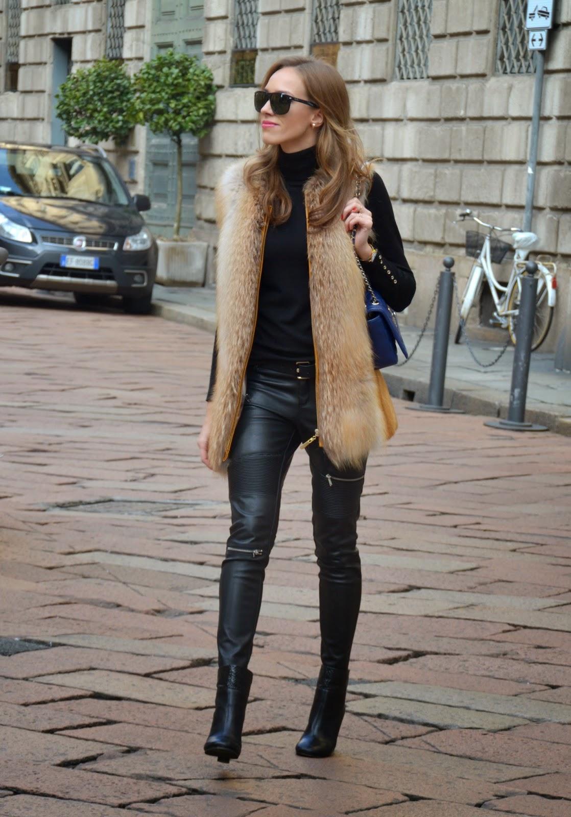 zara-leather-pants-fur-vest-winter-outfit-milan kristjaana mere