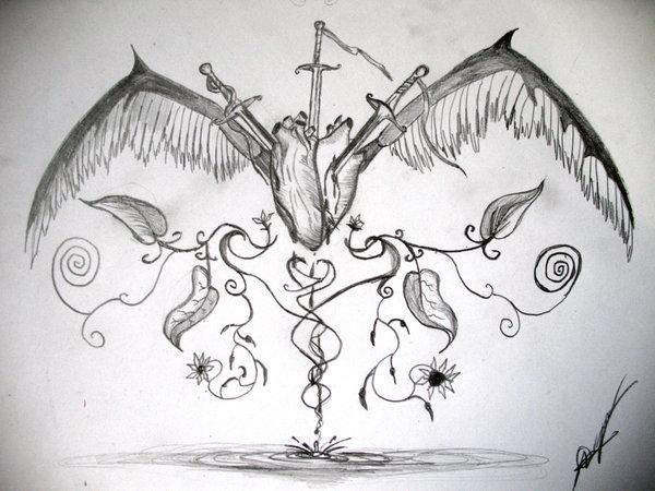 Marihuana Dibujo a Lapiz Dibujos de Corazones a Lapiz