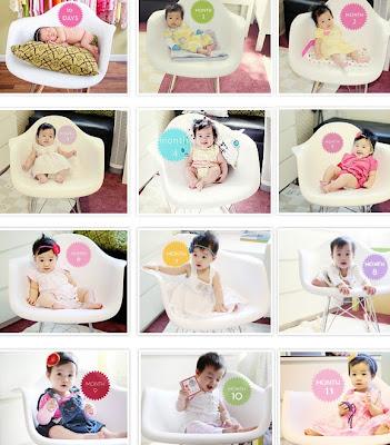 babytrend 10 Idéias de fotos para registrar o crescimento do seu bebê