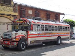 "The ever lovable ""Chicken Bus,"" Palenque"