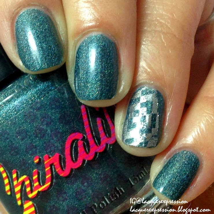 swatch and review of cu2+ nail polish by chirality
