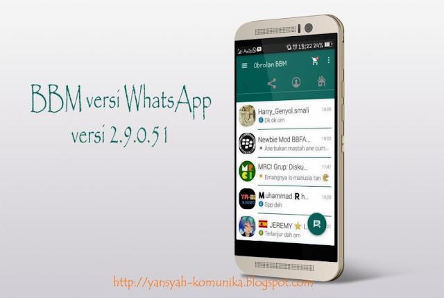 BBM Mod Versi WhatsApp