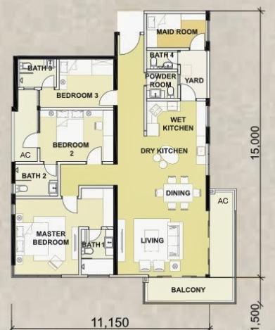 Floor plan feng shui june 2015 for Best feng shui floor plan