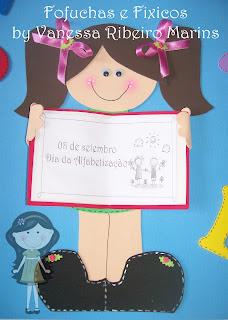 mural dia da alfabetização para porta em eva