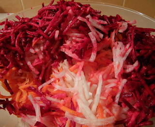 Grated Beets, Carrots, and Radish
