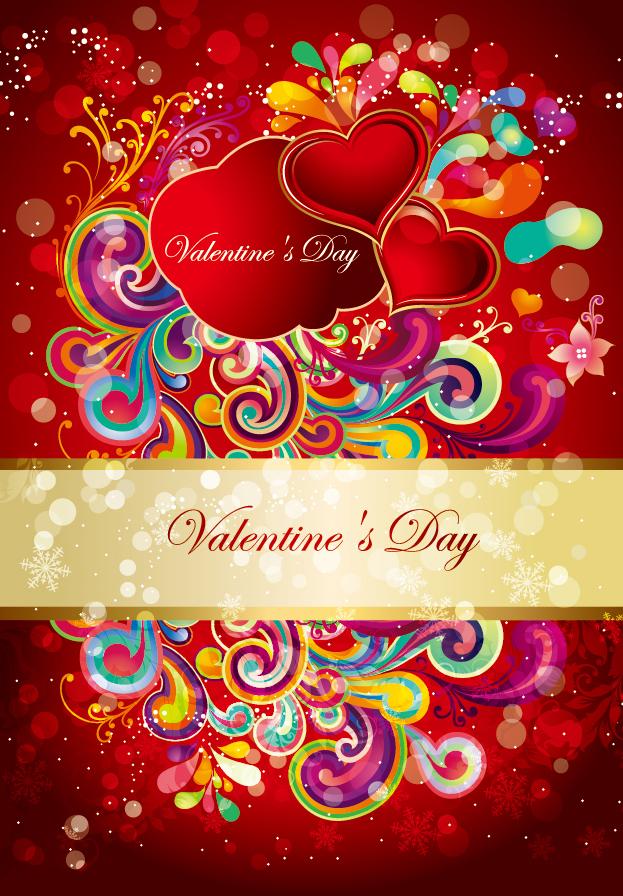 バレンタインデーのゴージャスなパターン valentine gorgeous pattern vector イラスト素材2
