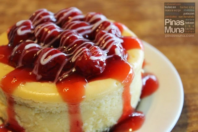 The Beanery in Balanga, Bataan Cherry Cheesecake