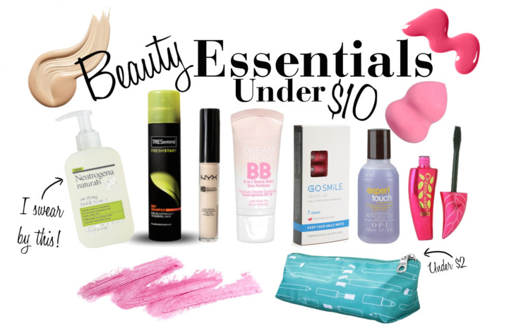 beauty essentials on budget