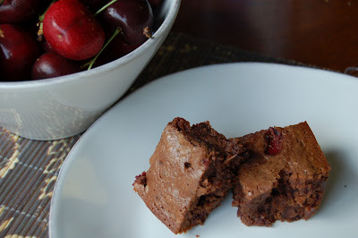 Chocolate Cherry Brownies with Whole Wheat | www.kettlercuisine.com