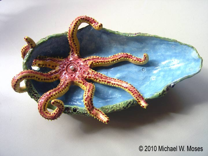 Taking It Easy StarFish Bowl By Michael W Moses Top View