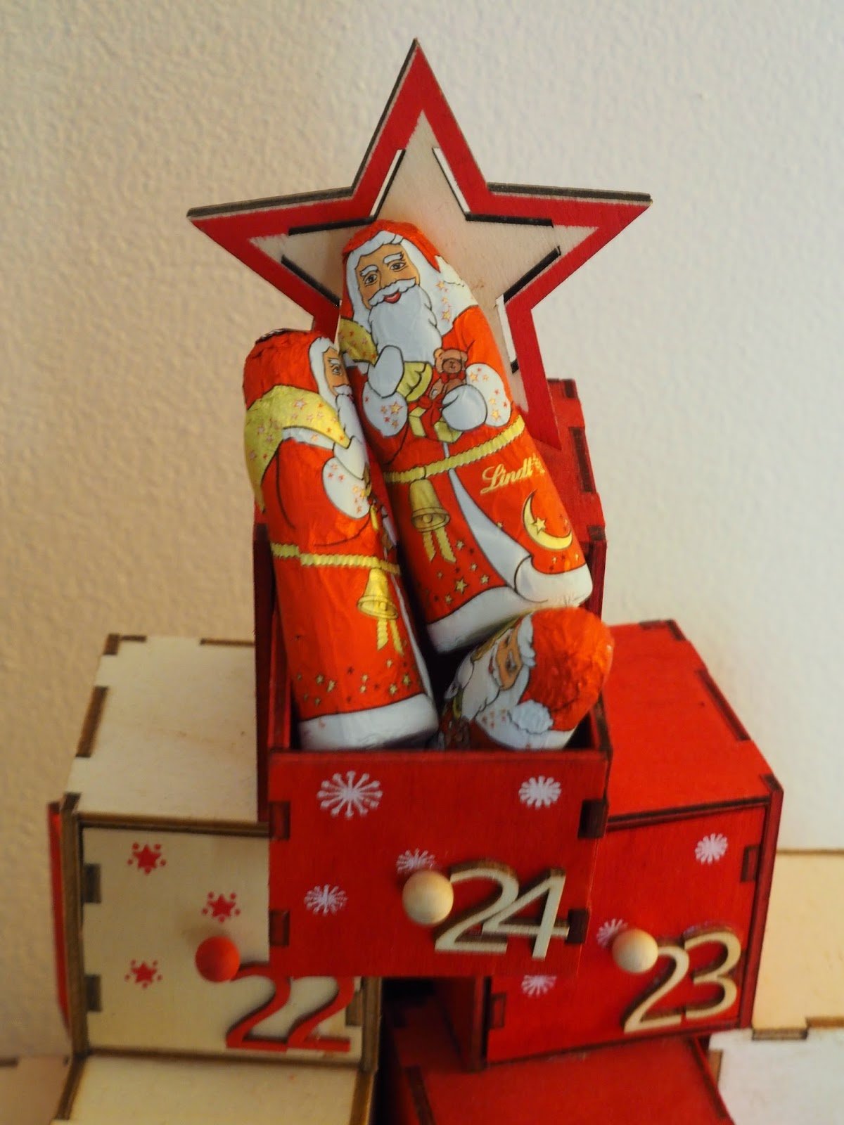 Lindt santa chocolate
